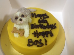 Cute Dog Cake Photo